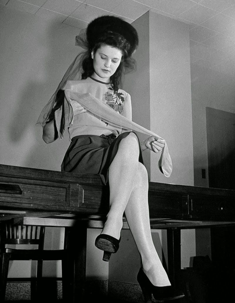 b7d7983fa 16 Classic Photos That Capture Nylon Stockings  Allure in the 1940s and  1950s