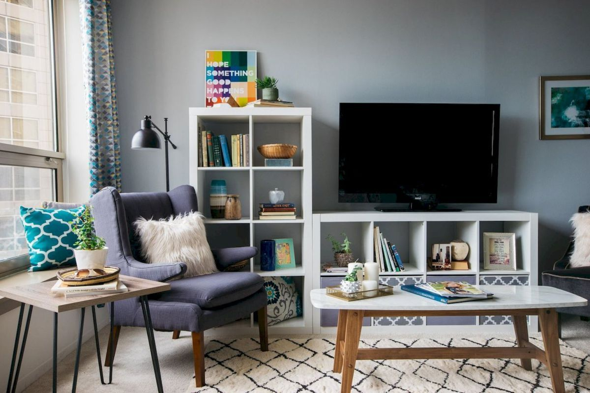 clever livingroom design for appartment apply on a budget
