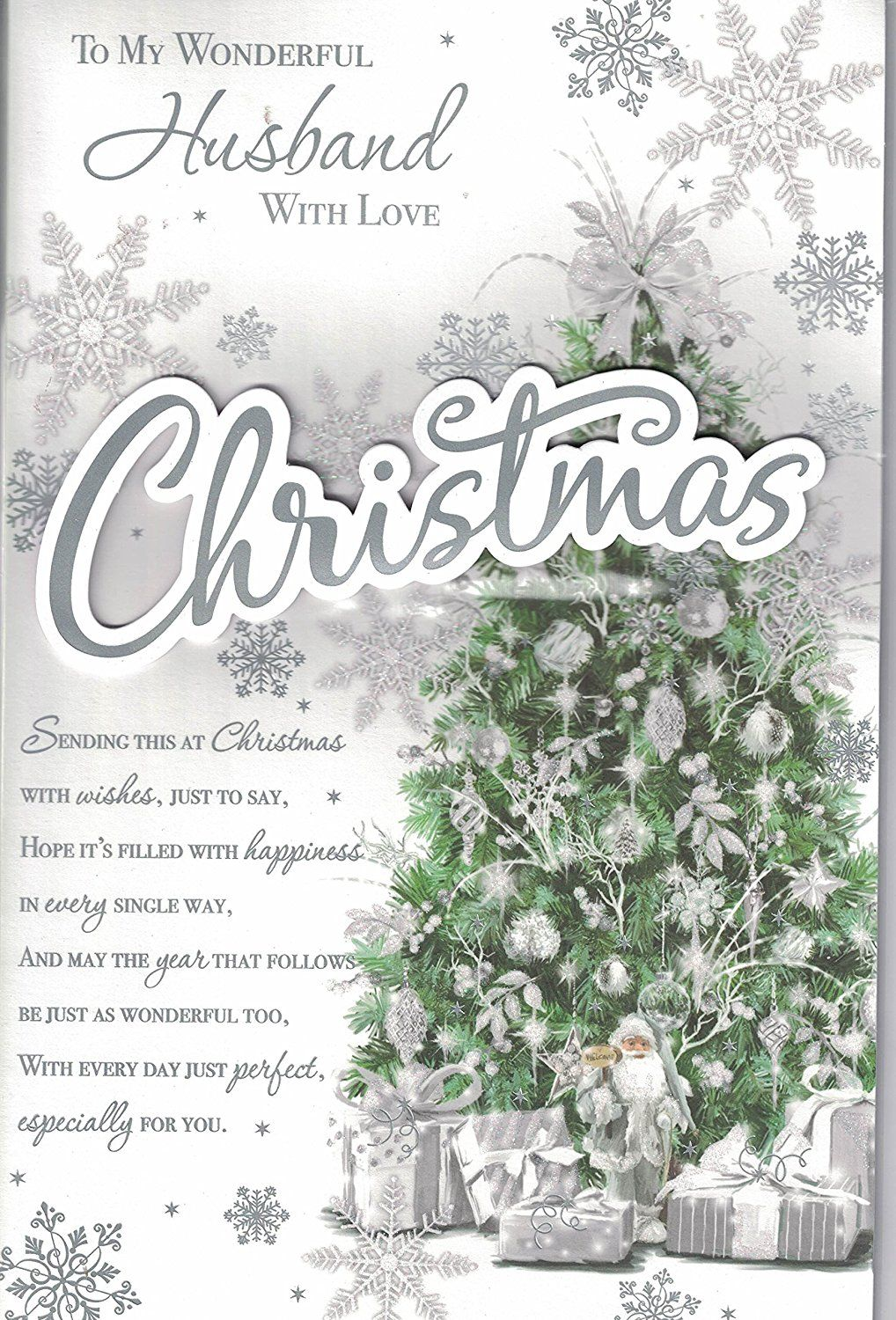 Husband christmas card to my wonderful husband at christmas husband christmas card to my wonderful husband at christmas traditional christmas tree extra large m4hsunfo