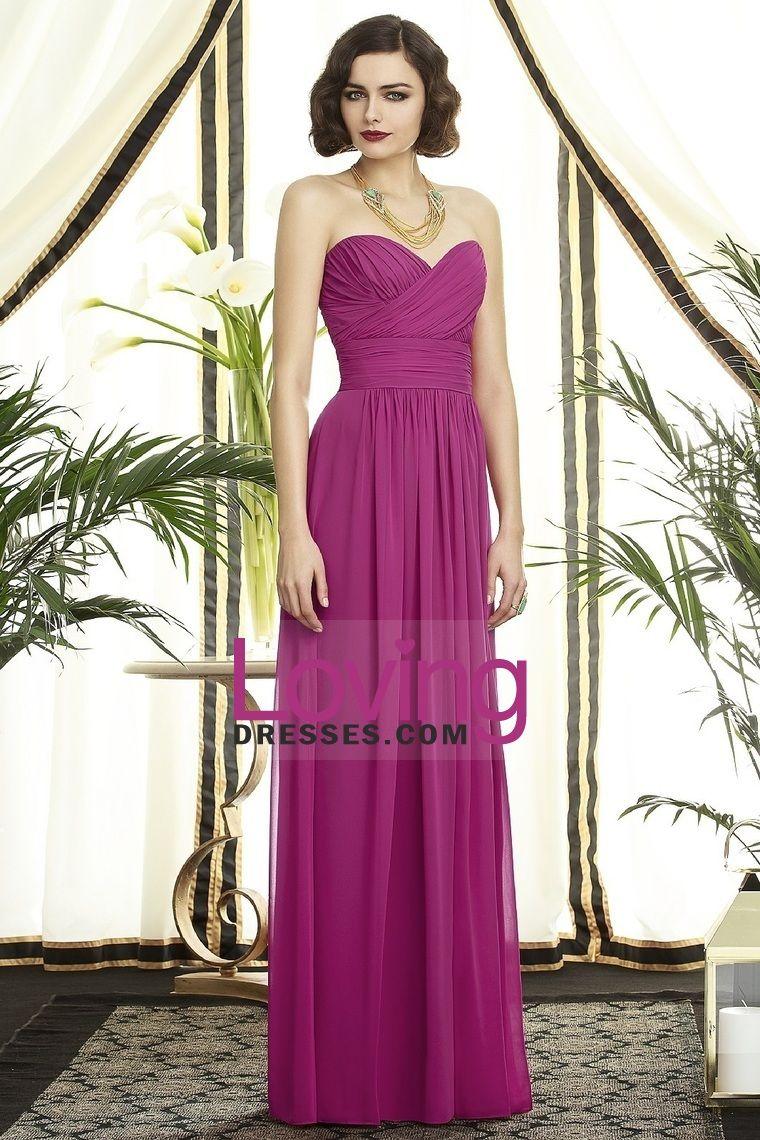 2013 dama de honor vestidos vaina / columna Novia piso-longitud de ...
