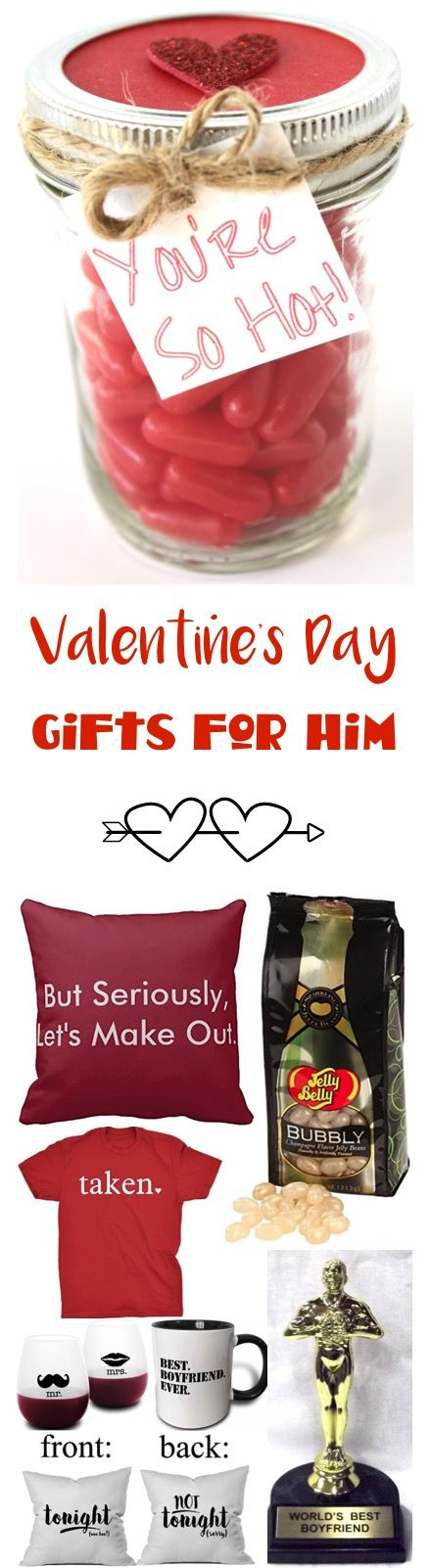 44 Valentineu0027s Day Gifts for Him! {Fun \ Romantic} Valentineu0027s - valentines day gifts