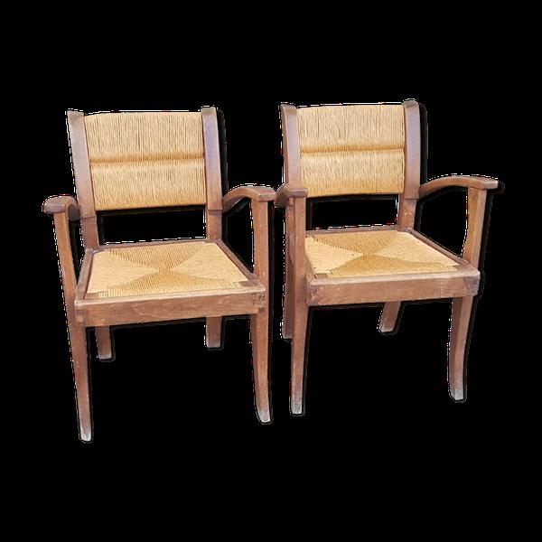 Paire de fauteuils paysans anciens   – Products