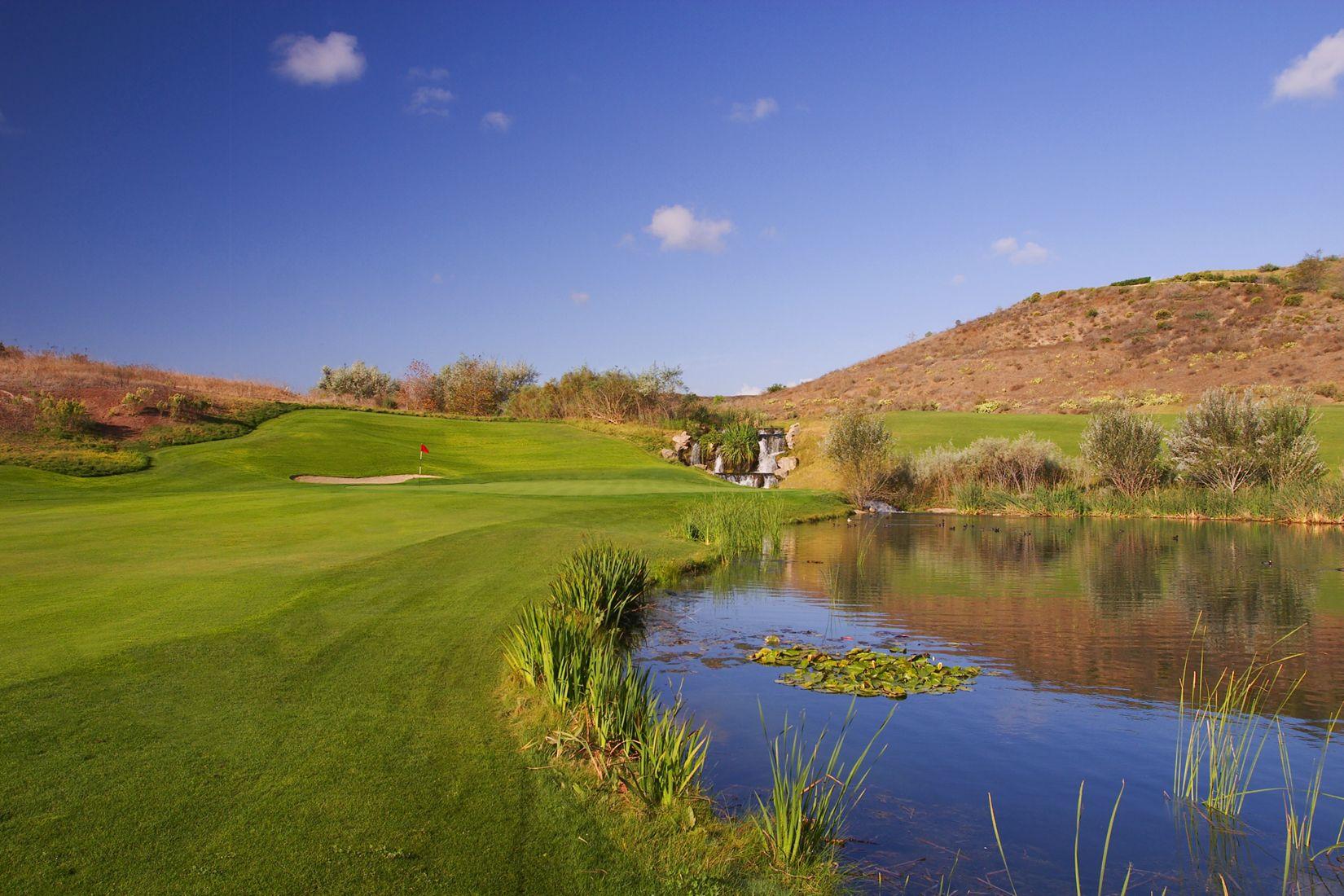 13th hole at Tierra Rejada Golf Club  432 yard par 4