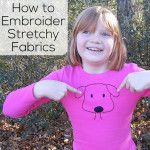 Yes! you can do hand embroidery on knit fabric like T-shirts. This video shows how. :-)