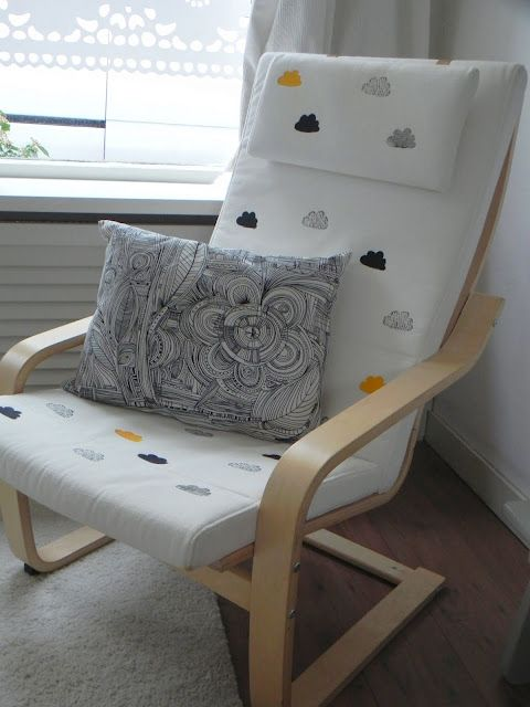 Stamped Ikea chair | Ikea poang chair, Ikea chair, Ikea nursery