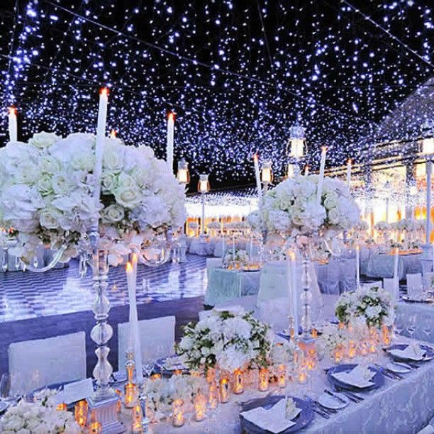 Night Wedding Ideas Decorations: Night Under The Stars Theme