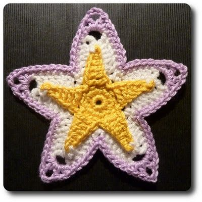 "crochet a ""star"" - looks ""beachy"" I wonder what I could make with this?"
