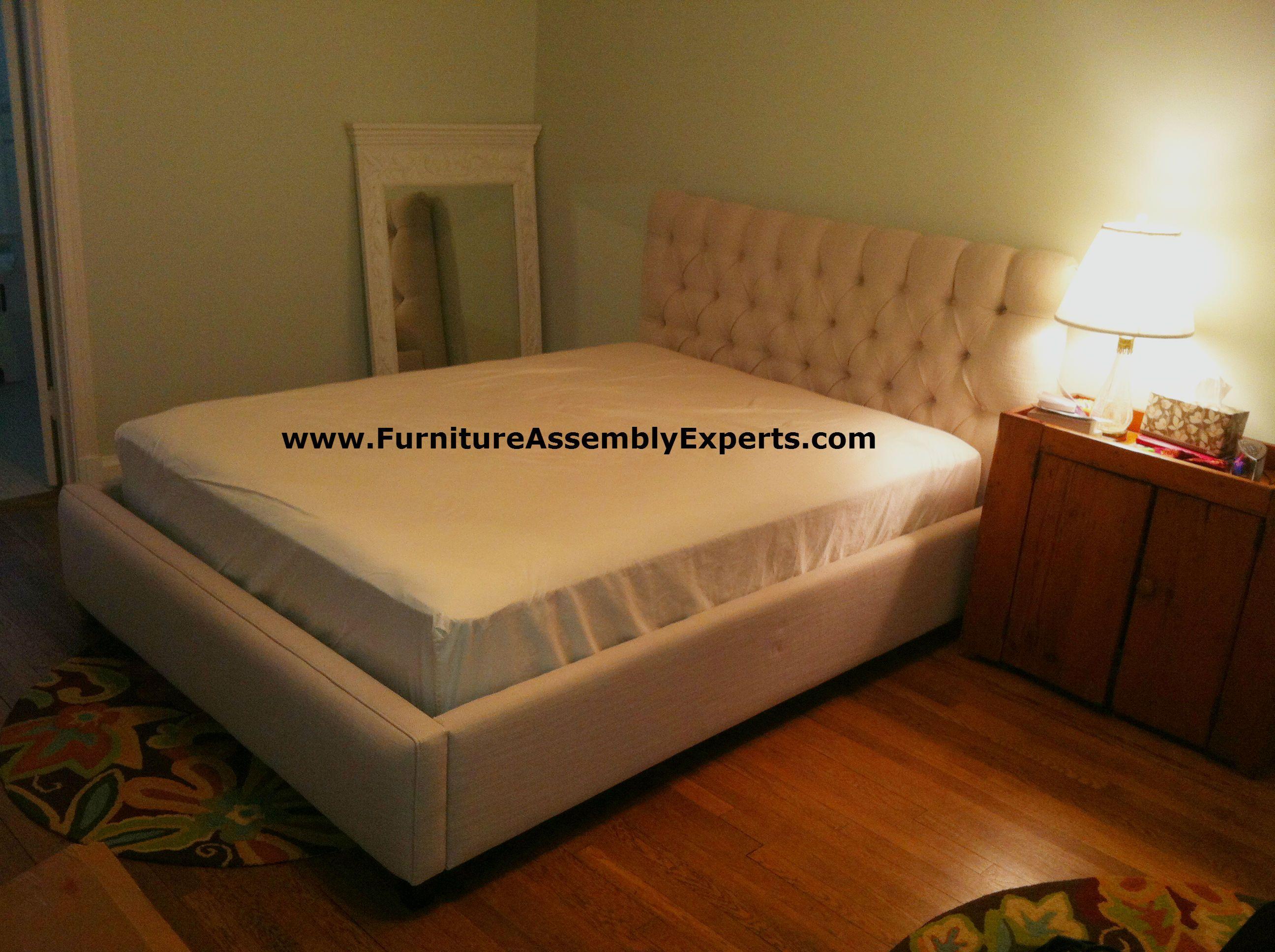 ballard designs tufted queen bed assembled in washington dc