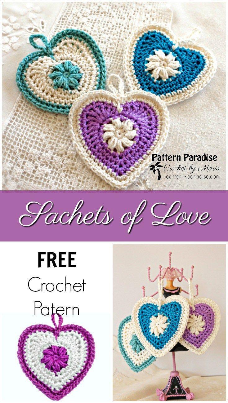FREE Crochet Pattern - Sachets and Trinkets   Pattern Paradise ...