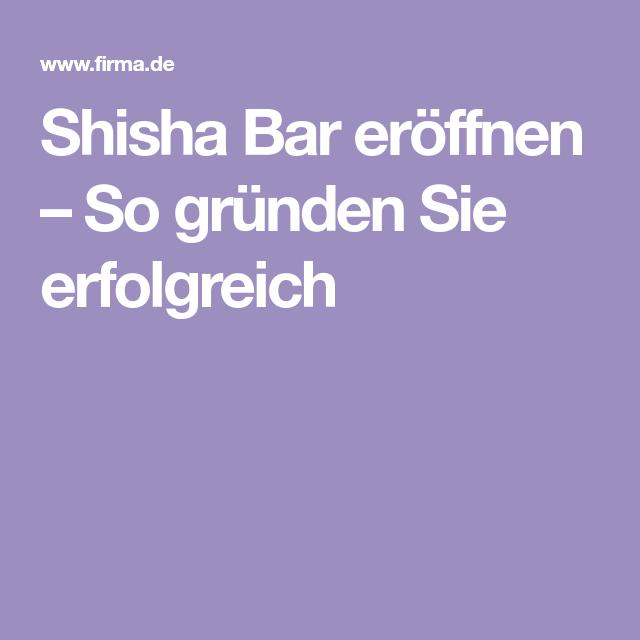 Shisha Bar Kosten