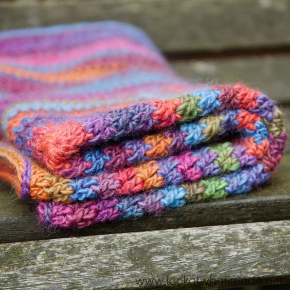 Continuous Crochet Baby Blanket Knit And Crochet Pinterest