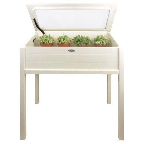 Esschert Design Tall Cold Frame, White | Cold frames, Growing plants ...