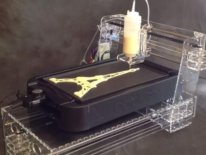 Print out breakfast with a pancake printer