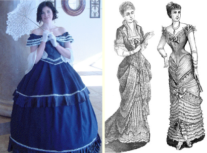 Victorian era fashion corset