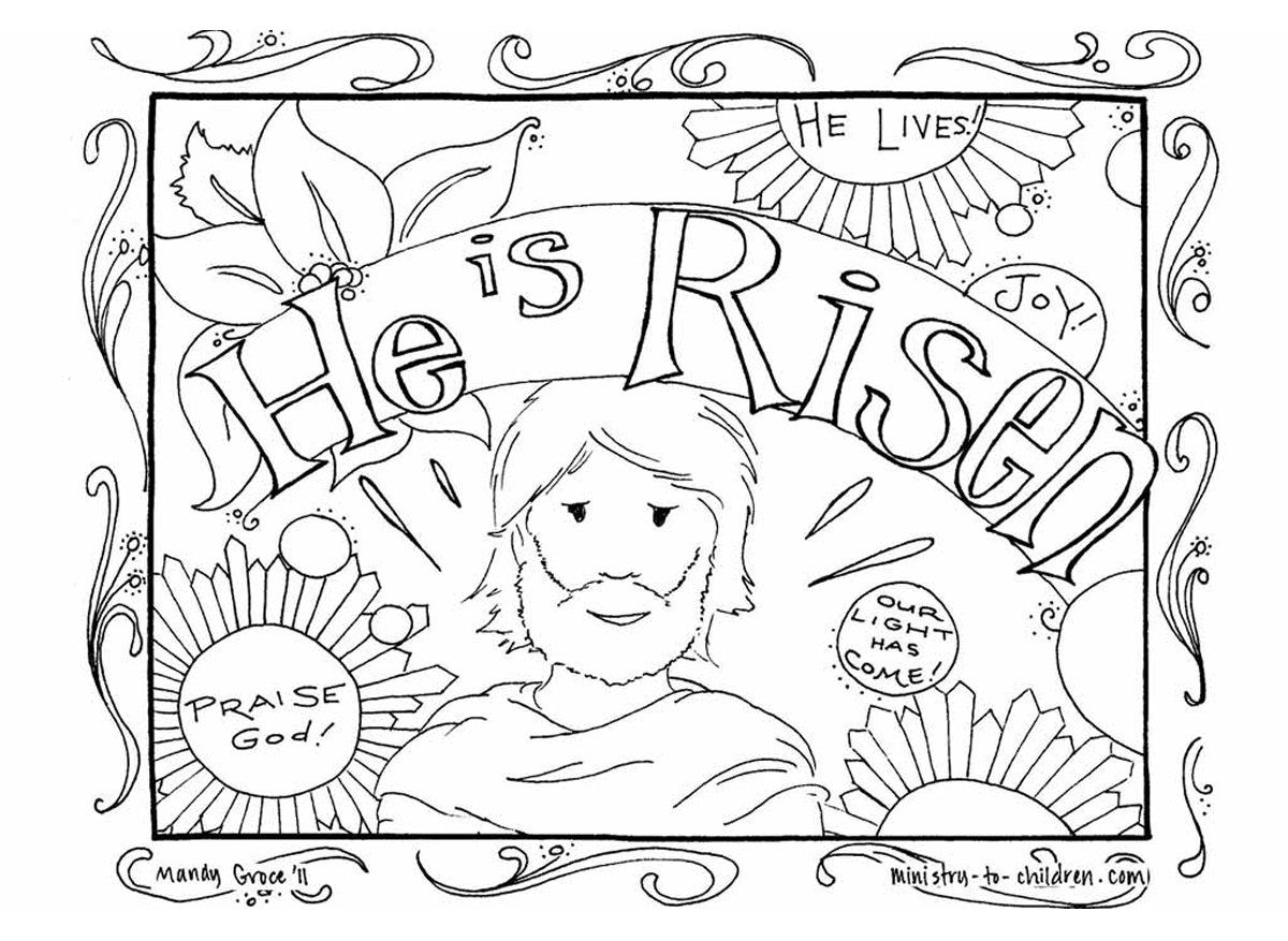 Fantástico Christian Easter Coloring Pages Imprimibles Motivo ...