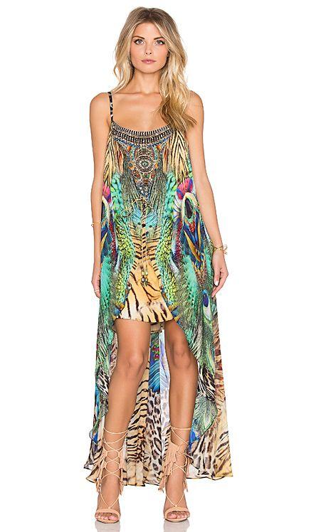 Camilla Long Overlay Mini Dress in Roar of The Wild | REVOLVE