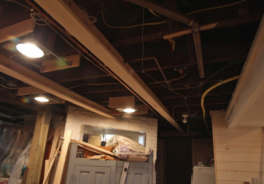 Remove Drop Ceiling Attach T Boards To Beams Above Cut