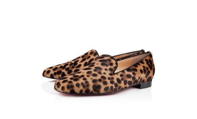 HENRIETTE LEOPARD , Poney imprimé, Or Leopard/Noir, souliers pour femme. Christian Louboutin