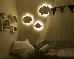 Nuvem Luz Led Luminaria Abajur Bebe Com Imagens Decoracao De