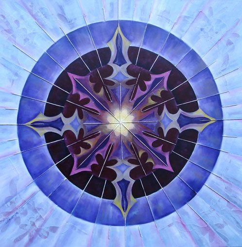Pintura al óleo sobre tela y collage   Caleidoscopio I Melina Litauer