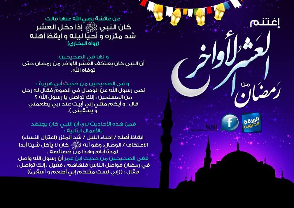 إغتنم العشر الأواخر من رمضان Lalic Weather