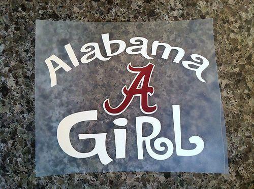 Alabama girl crimson tide saban roll tide vinyl decal sticker car truck