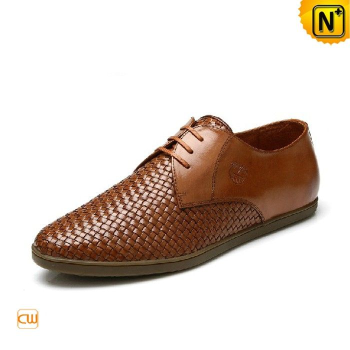 Men's Classic Shoes Men's Weaved Leather Brown Classic Genuine Leather Shoes CW761203 $218.67 - www.cwmalls.com