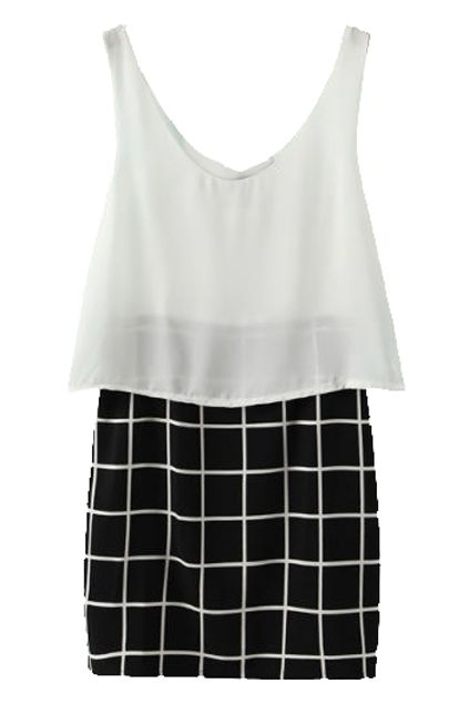 Buy Sleeveless Check Dress from abaday.com, FREE shipping Worldwide - Fashion Clothing, Latest Street Fashion At Abaday.com