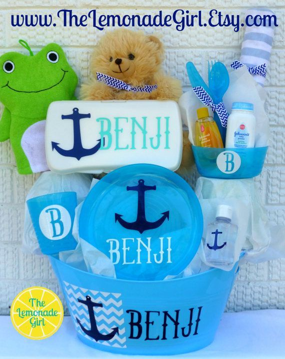 Personalized baby basket anchor baby anchor baby shower personalized baby basket anchor baby anchor baby shower nautical baby personalized nautical negle Images