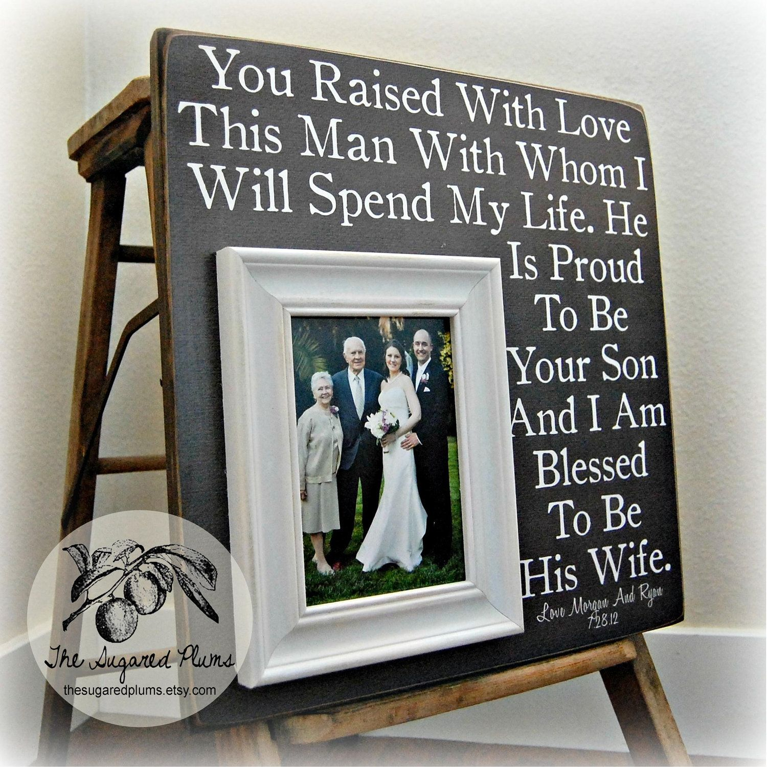Parents Of The Groom Gift Personalized Picture Frame 16x16