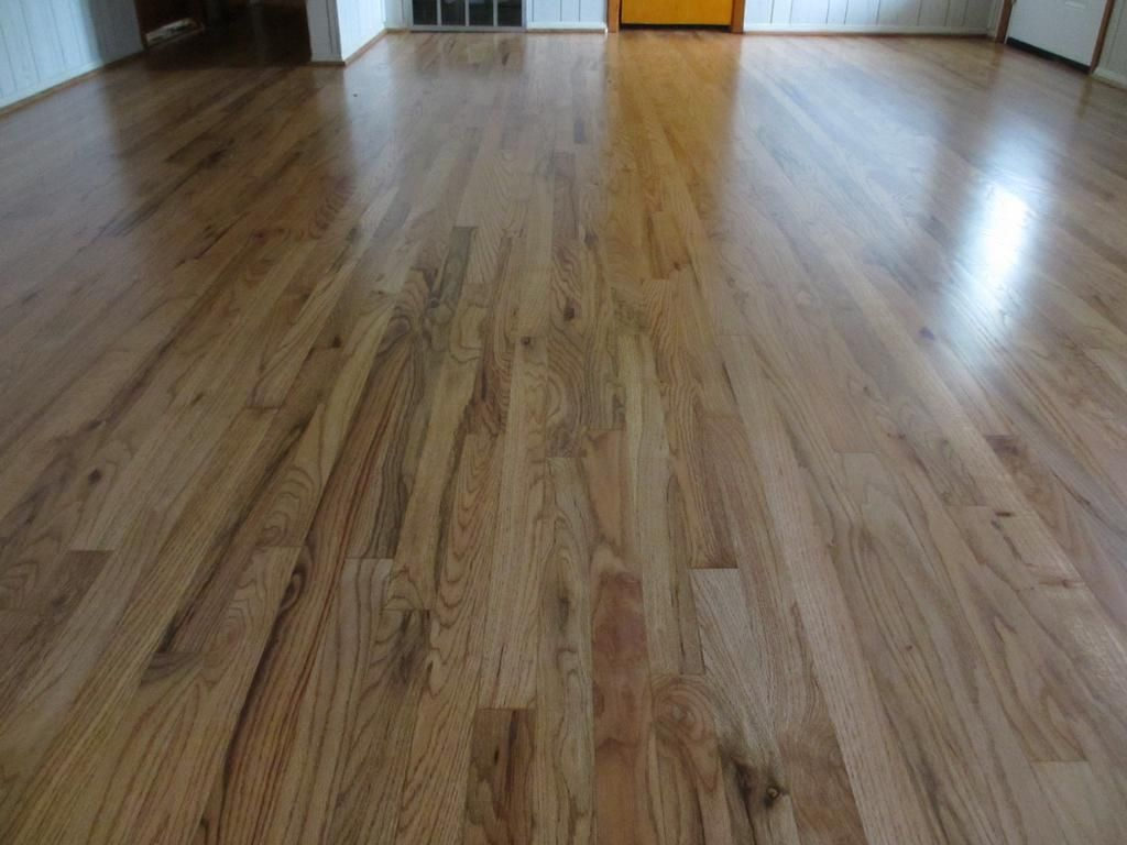 Recently refinished 1 common red oak hardwood floors for Hardwood floors or carpet