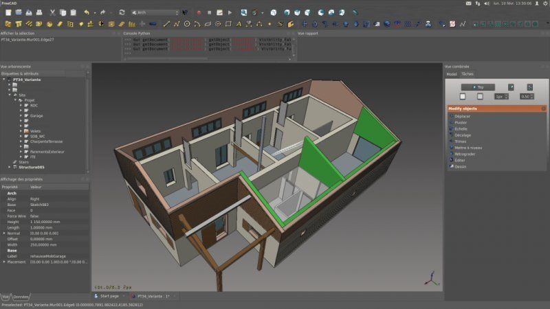 FreeCAD by FreeCAD - FreeCAD is a parametric 3D modeler Parametric - simulation construction maison 3d gratuit