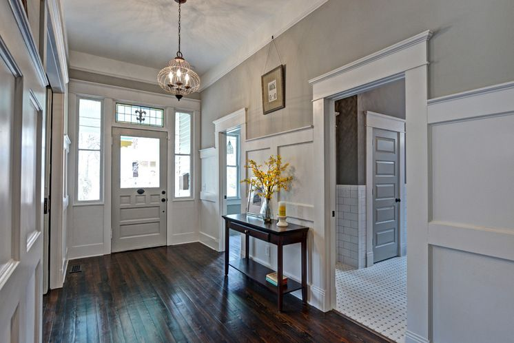 Wainscoting And Paint Color Mindful Gray Sherwin Williams