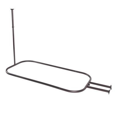 Utopia Alley Hoop Shower Rod For Clawfoot Tub Bronze Oil Rubbed