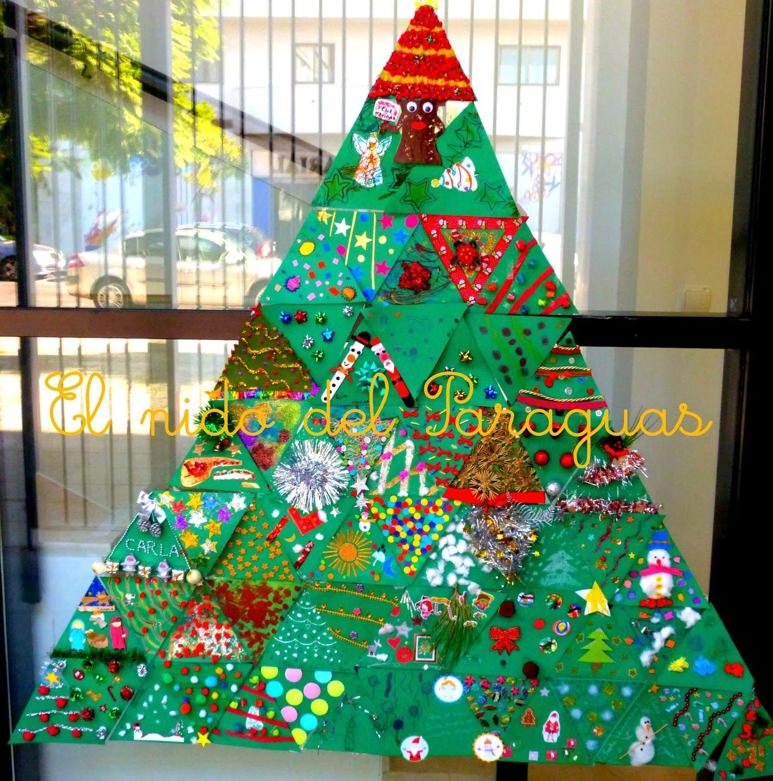 arboles de navidad con cartulina Buscar con Google