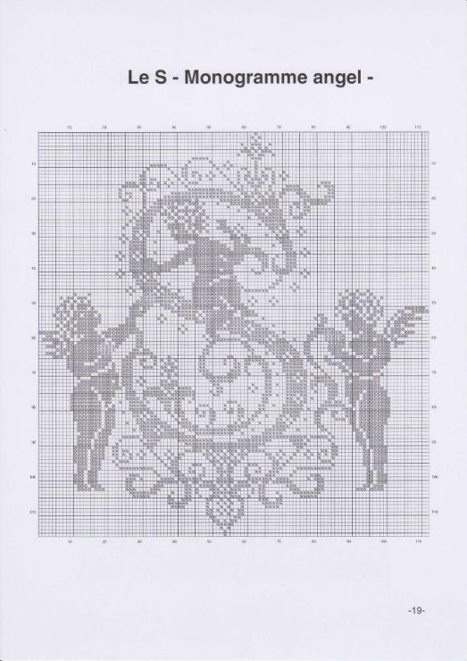 monogram | letras | Pinterest | Abecedario, Punto de cruz y Puntos