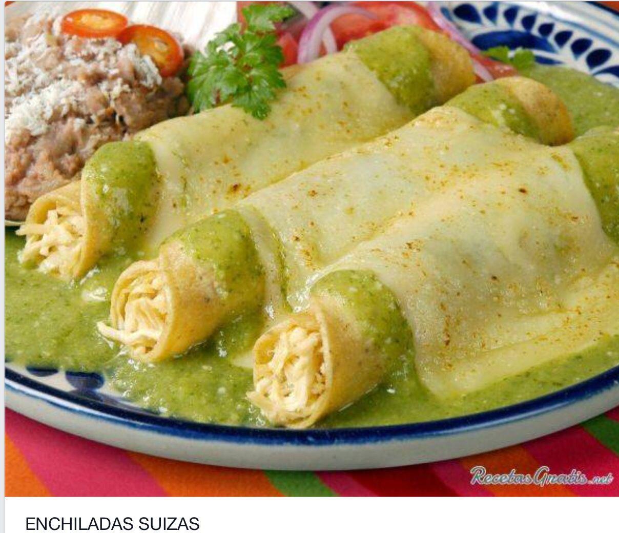 Enchiladas suizas recetas bien ricas que la comida for Tipos de encielados