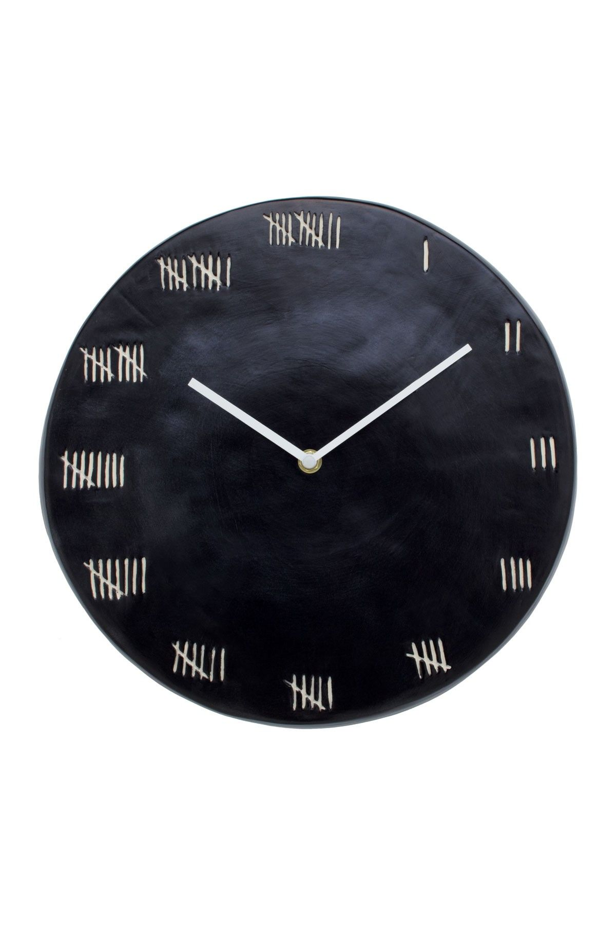 """Magenta Black Chalkboard Round Clock from  HauteLook. A unique chalkboard round clock ready to grace your wall right on time with style and ease. 12""""Diameter x 1""""D. $39.00"""