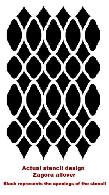 Zagora Allover Stencil With Images Stencil Crafts
