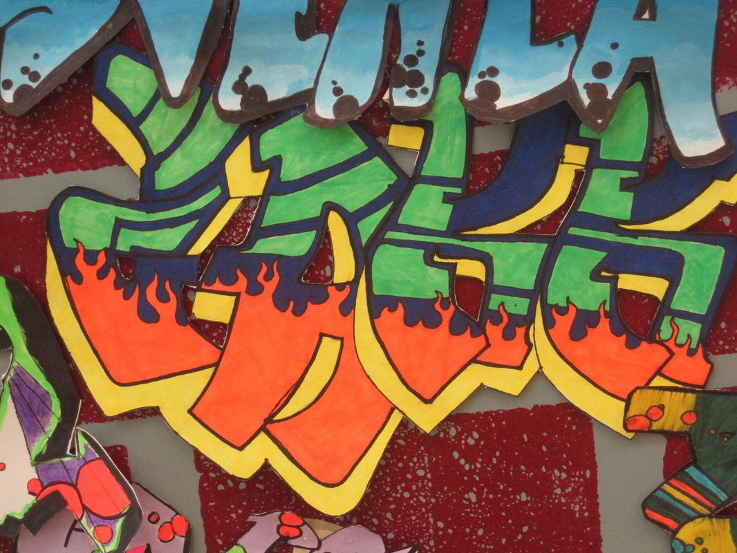 Students Used The Graffiti Creator On My Website Here To Get Inspiration For Their Graffiti Images Students Then Free Handed The Graffiti Lettering