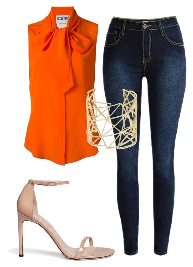 """""""Untitled #6694"""" by ana-sheeran-styles ❤ liked on Polyvore featuring Moschino, Stuart Weitzman and Joanna Laura Constantine"""