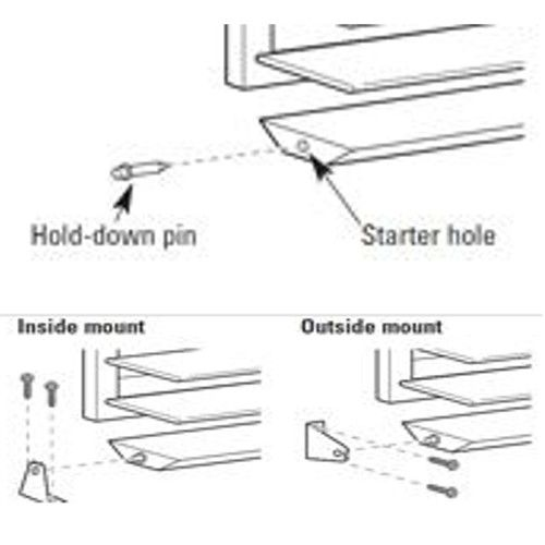 Blind Hold Down Bracket Installation Examples Blind Repair Faux