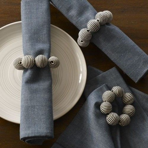 Photo of Striped Ball Napkin Ring (easy DIY project – so many color p…