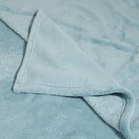 John Lewis Amp Partners Fleece Throw Duck Egg Fleece