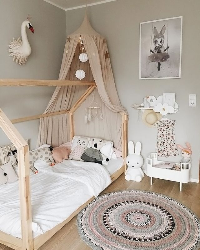 A gorgeous kid\'s room by @3elfkinder, Miffy lamp and Rosaline doll ...