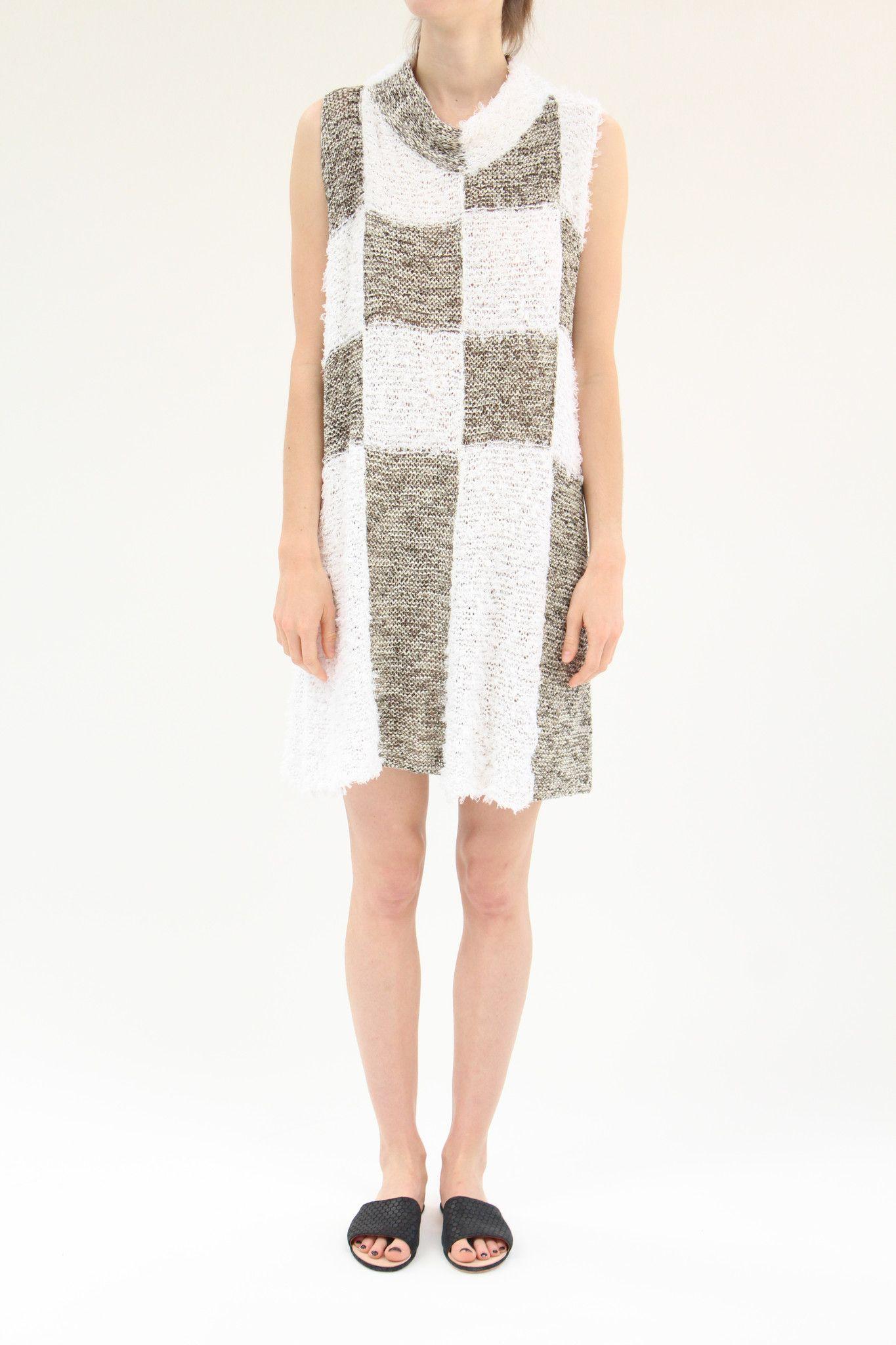 Correll Correll Check Knit Dress