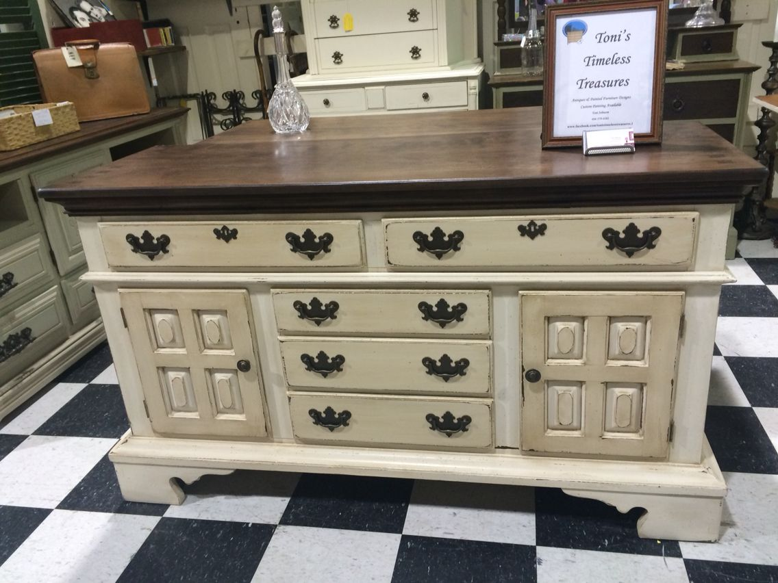 Credenza Antica Per Cucina : Antique sideboards painted white and glazed in two tones to
