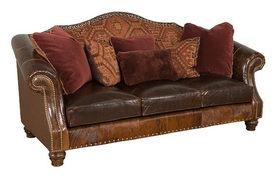 Shop For King Hickory Red Rock Leather/Fabric Sofa, And Other Living Room  Sofas At Hickory Furniture Mart In Hickory, NC. The Red Rock Leather/Fabric  Sofa ...