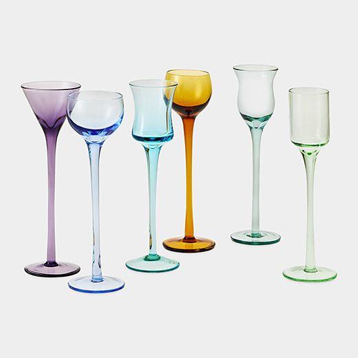 Crystal Glass Set of 6 Vodka Cordial Liqueur Sherry 2 oz Gold  Greek Key  Design