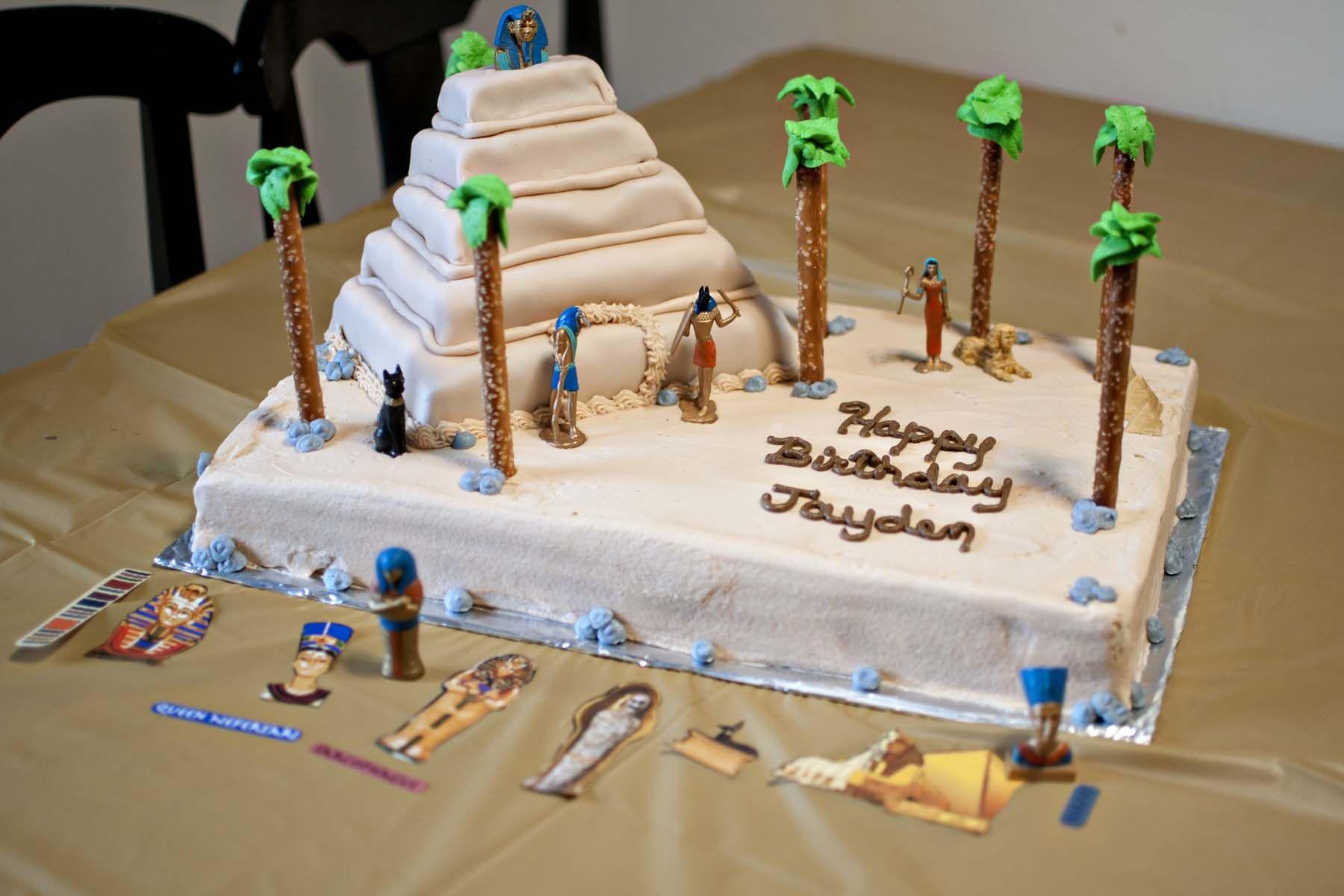 Pleasing Our Sons Egyptian Birthday Cake Adventuresinaspergers Com Funny Birthday Cards Online Necthendildamsfinfo